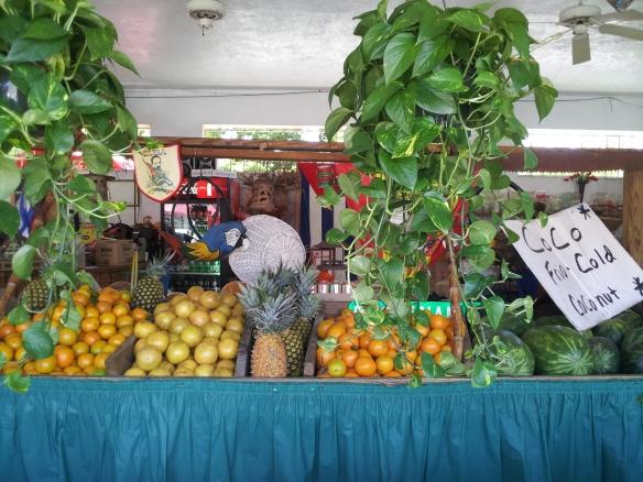 Fruit stand at Los Pinaneros