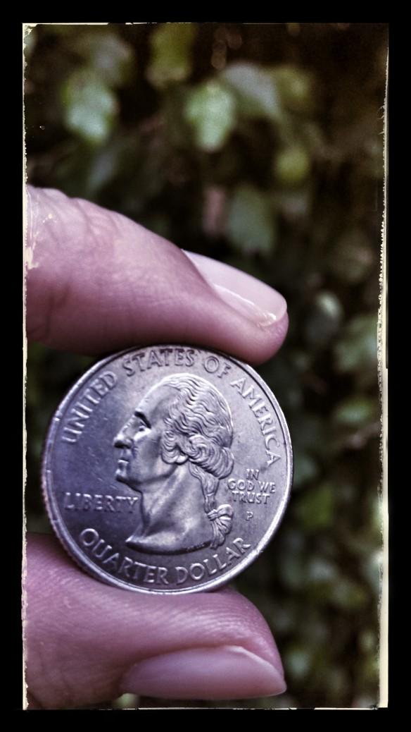 vinte e cinco centavos
