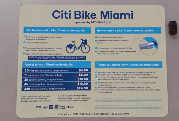 CitiBike sign