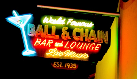 ball and chain sign